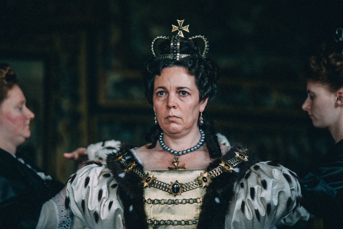 Olivia Colman in the film THE FAVOURITE. Photo by Atsushi Nishijima. © 2018 Twentieth Century Fox Film Corporation