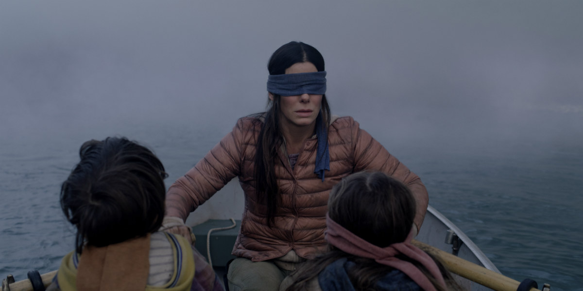 Sandra Bullock in Bird Box/Netflix