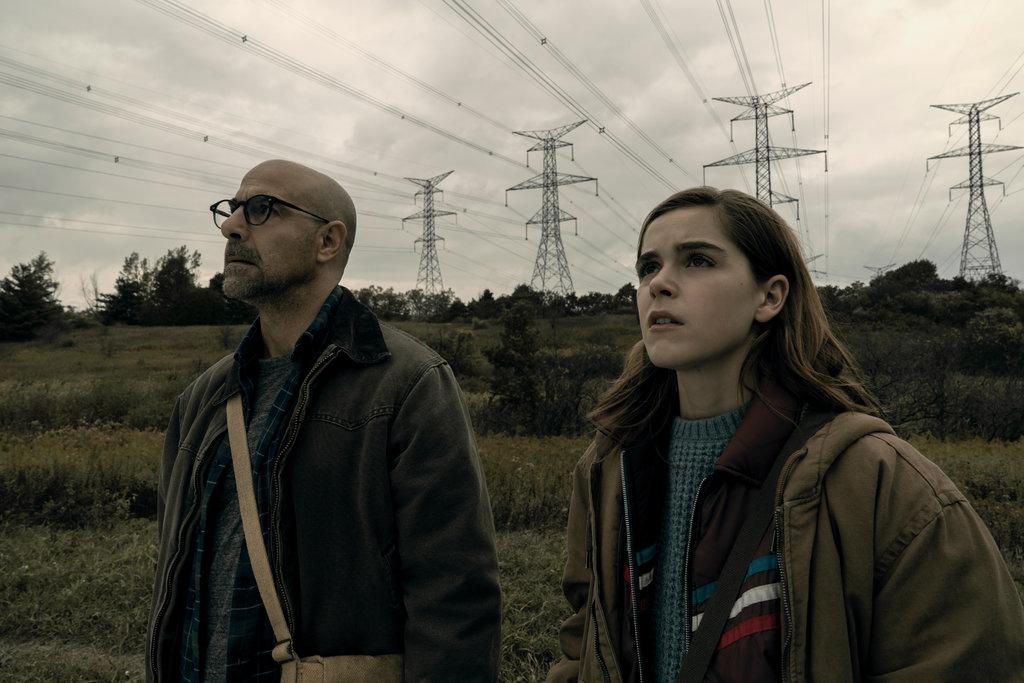 "Stanley Tucci and Kiernan Shipka in ""The Silence""/Netflix"