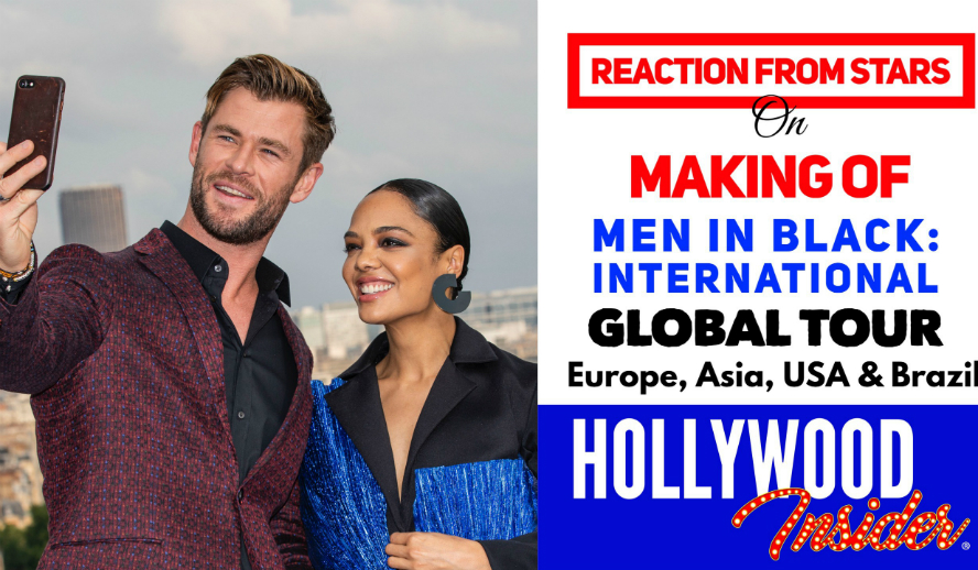 Hollywood Insider's Reaction From Stars on Making of Men In Black International Chris Hemsworth Tessa Thompson Gary Gray Sony Pictures