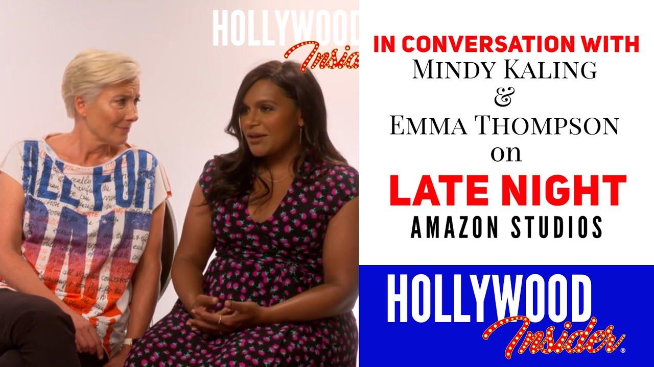 Mindy Kaling Emma Thompson Reaction on Late Night Amazon Studios