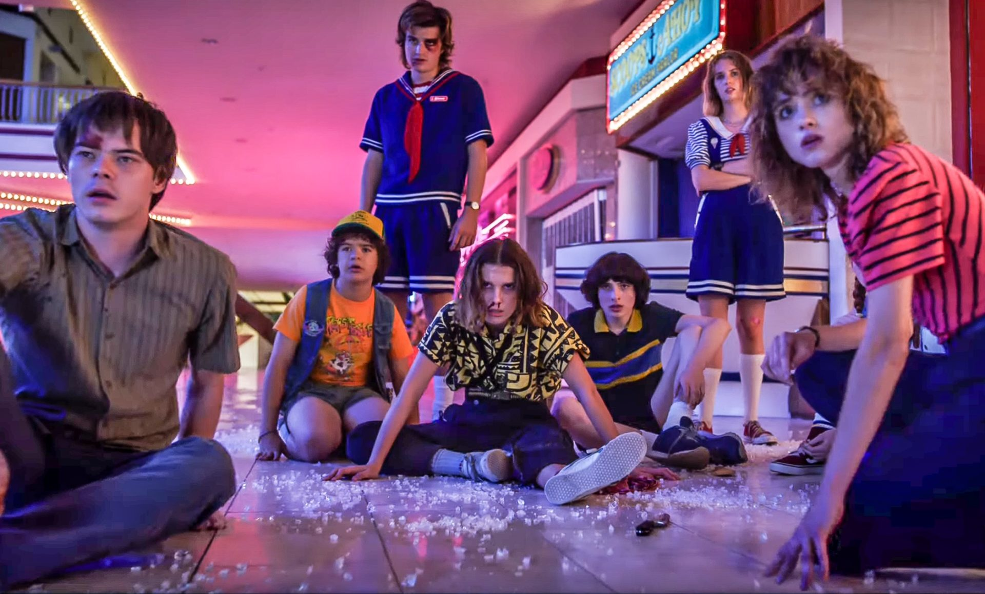 The Duffer Brothers Stranger Things with Winona Ryder, David Harbour, Millie Bobby Brown, Gaten Matarazzo, Natalia Dyer, Joe Keery, Noah Schnapp, Dacre Montgomery, Maya Hawke