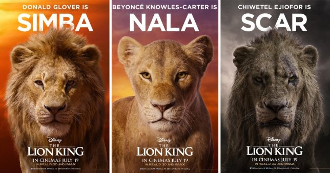 The Lion King Simba Nala Mufasa Disney Beyonce Donald Glover Chiwetel Ejiofor