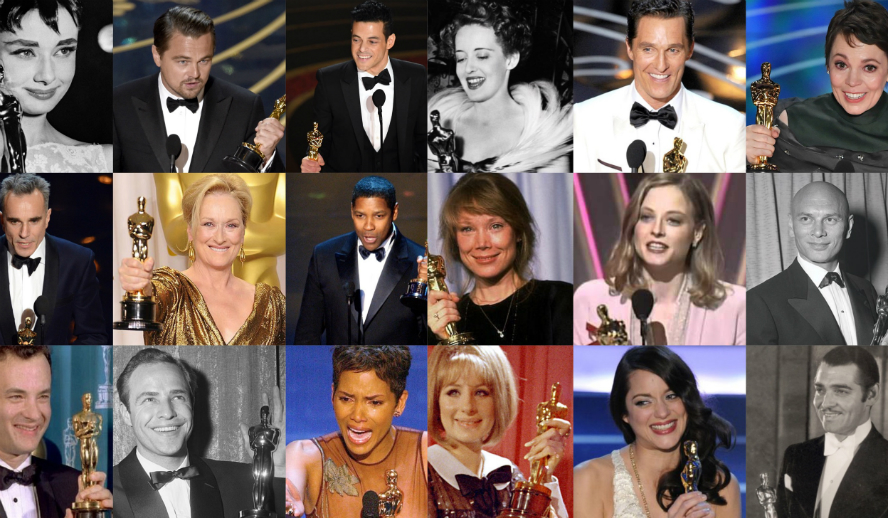 Hollywood Insider Oscars Academy Awards Best Actor Best Actress Winners Speeches 1929 to 2019 Rami Malek Olivia Colman Leonardo DiCaprio Daniel Day Lewis Marlon Brando Audrey Hepburn Denzel Washington Meryl Streep Tom Hanks