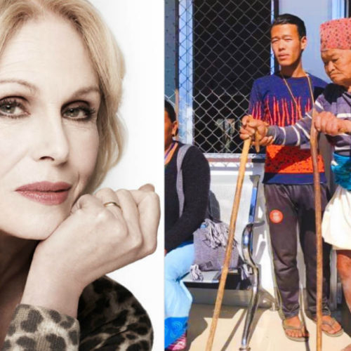 "Joanna Lumley blasts media which ""forgets broken lives/communities left behind once storm of publicity has moved on from an area of crisis"" in support of Humans Of Our World's ""Remember Forgotten Villages"" campaign"
