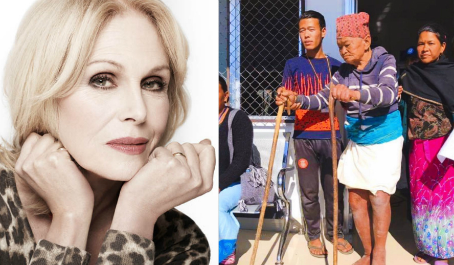 Hollywood Insider Reports Joanna Lumley Supports Humans Of Our World Foundation Nepal Campaign To Ask All To Donate To Support Forgotten Victims Of Remote Villages