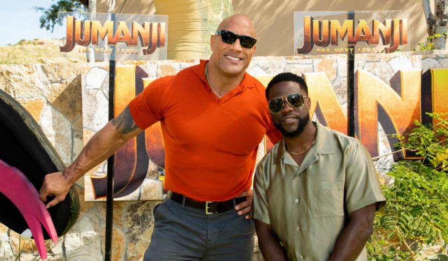 Hollyood Insider's Reactions From Stars Jumanji The Next Level Dwayne Johnson, Kevin Hart, Jack Black, Danny Glover, Danny Devito, Awkwafina, Jake Kasdan