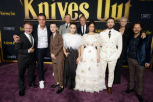 Hollyood Insider's Reactions From Stars Knives Out, Chris Evans, Daniel Craig, Jamie Lee Curtis, Christopher Plummer, Rian Johnson, Jaeden Martell