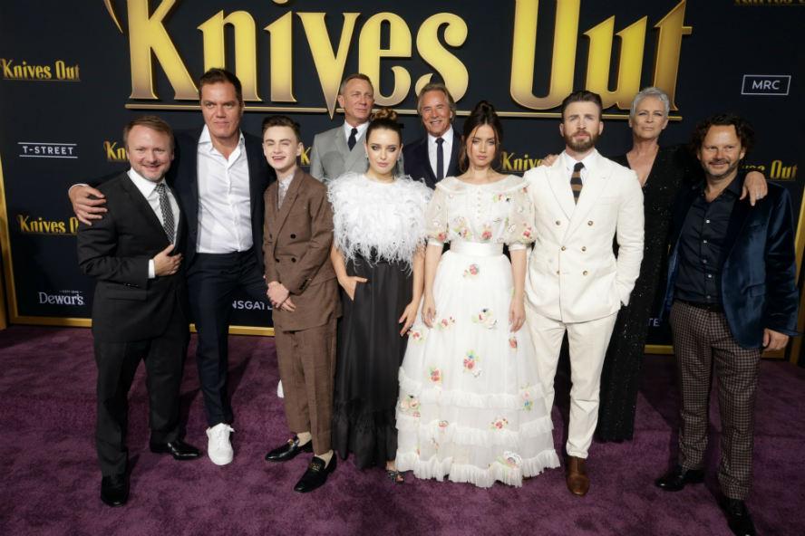Hollyood Insider's Reactions From Stars Knives Out, Chris Evans, Daniel Craig, Jamie Lee Curtis, Christopher Plummer, Rian Johnson, Jaeden Martell