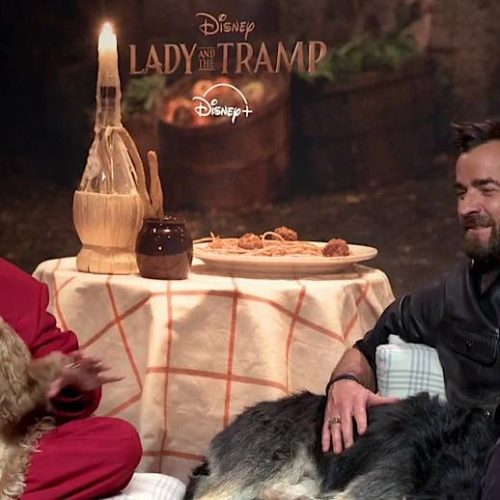 Video: 'Reactions From Stars' With Tessa Thompson, Justin Theroux, Janelle Monae & Team on 'Lady & The Tramp'