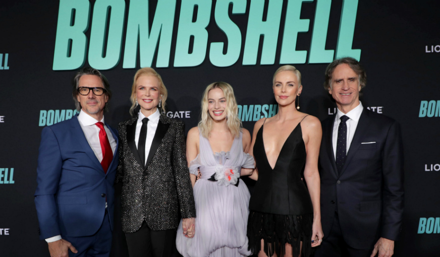 Hollywood Insider Reactions From Stars with writer Charles Randolph, Nicole Kidman, Margot Robbie, Charlize Theron, Jay Roach