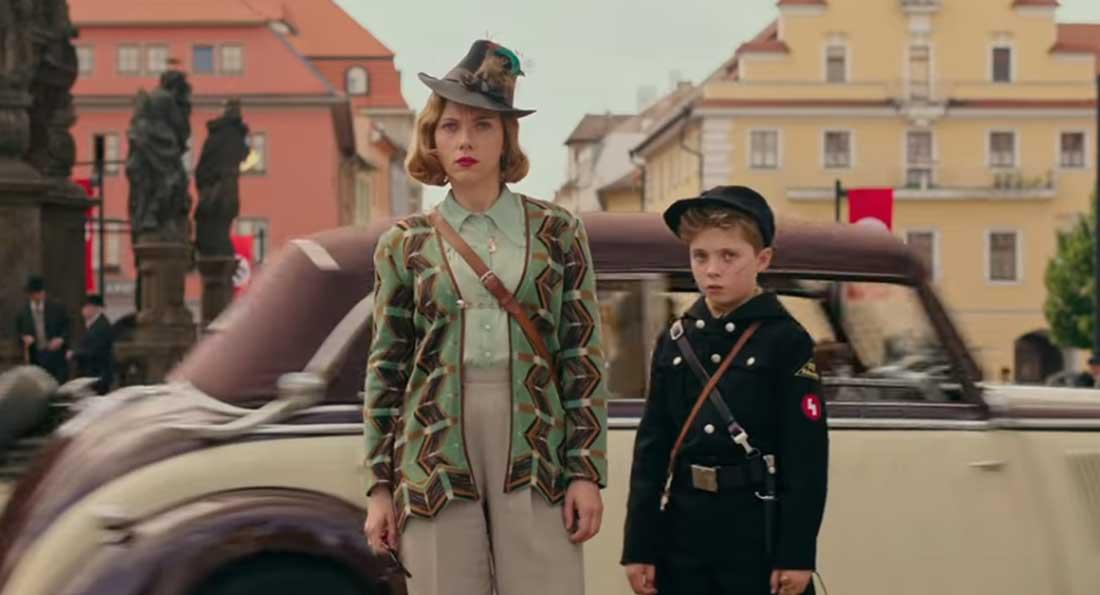 Hollywood Insider's Review Jojo Rabbit Scarlett Johansson, Taika Waititi, Rebel Wilson, Sam Rockwell