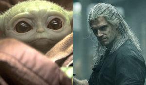 Hollywood Insider Feature Netflix The Witcher, Disney+ Star Wars Mandalorian, Baby Yoda, Henry Cavill, Pedro Pascal