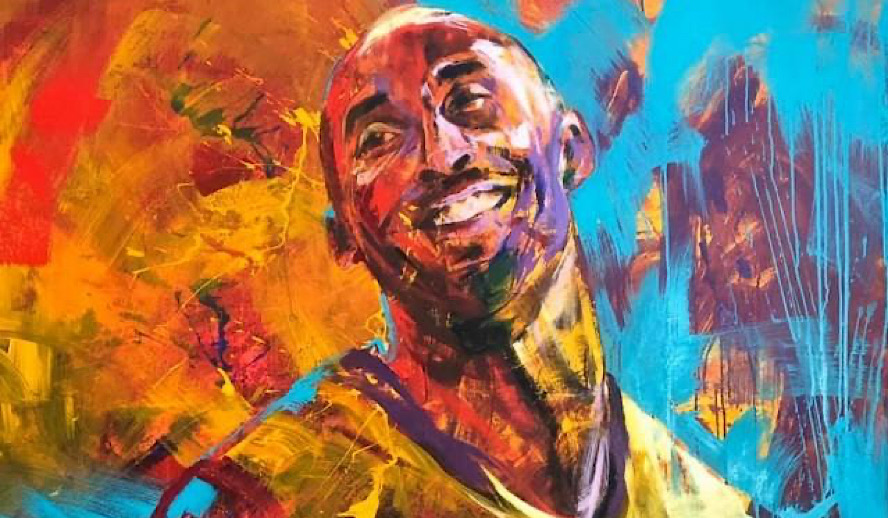 Hollywood Insider Feature Tribute Kobe Bryant Painting Fact-Checked Series 32 Facts Lakers Basketball