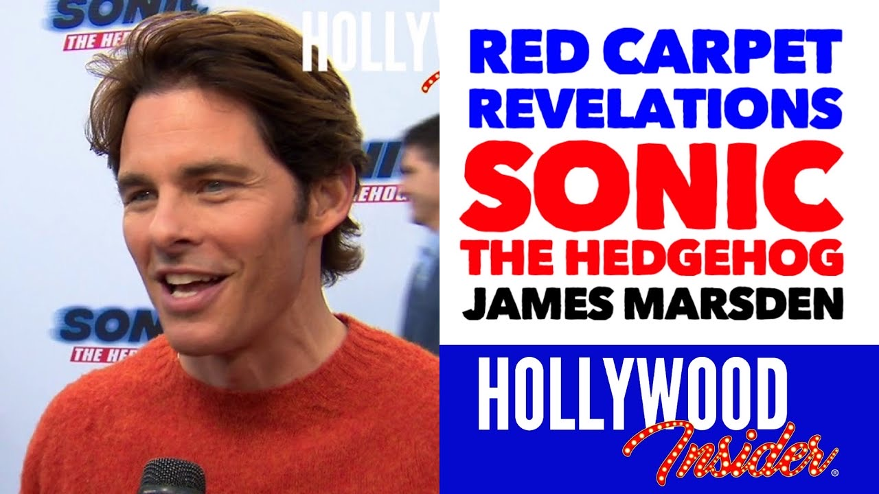 Hollywood Insider Red Carpet Sonic The Hedgehog Premiere James Marsden