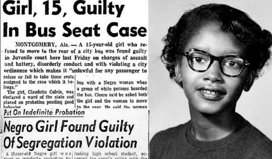 Unsung Heroes Series: We Refuse To Forget Claudette Colvin Aged 15, Whose Refusal To Stand Up Inspired Rosa Parks Protest