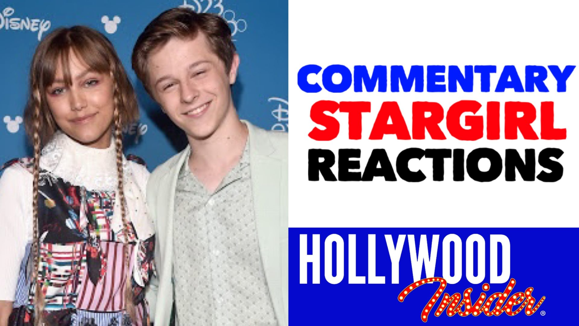 Hollywood Insider Videos Stargirl Commentary Disney, Grace Vanderwaal