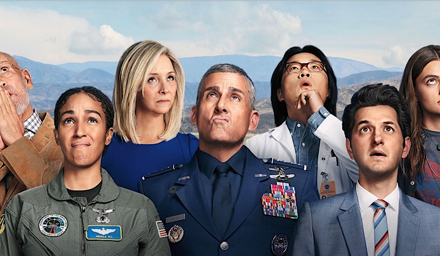 Hollywood Insider Netflix Space Force, Steve Carrell, Lisa Kudrow, The Office, Donald Trump, Alexandra Ocasio Cortez