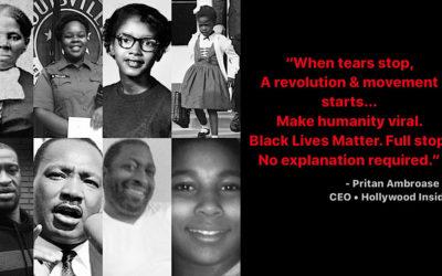 Hollywood Insider's CEO Pritan Ambroase's Love Letter to Black Lives Matter