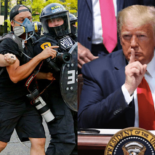 Donald Trump Attacks Press Freedom, Cops Assault Journalists Bloody