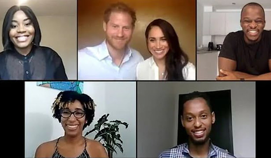 Hollywood Insider Prince Harry and Meghan Markle on Black Lives Matter