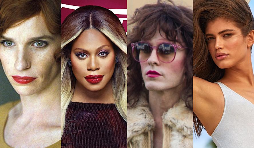 Hollywood Insider Trans Representation, Eddie Redmayne, Laverne Cox, Jared Leto, Valentina Sampaio