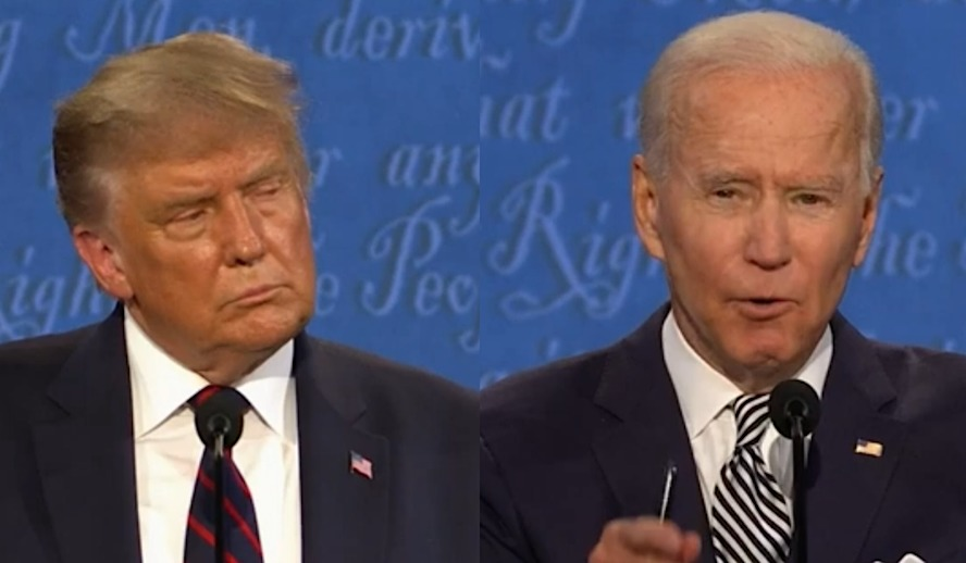 Hollywood Insider Presidential Debates 2020, Donald Trump, Joe Biden