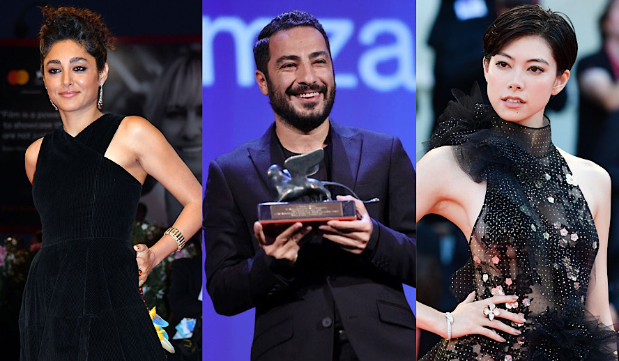 Hollywood Insider Venice Film Festival, Golshifteh Farahani, Navid Mohammadzadeh, Hikari Mori