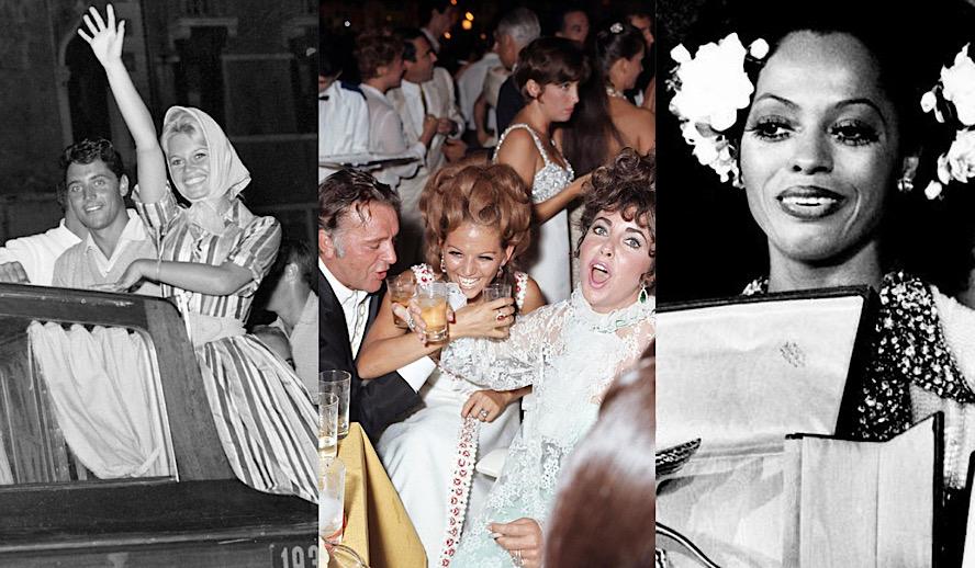 Hollywood Insider Venice Film Festival, Sacha Distel, Brigitte Bardot, Richard Burton, Claudia Cardinale, Elizabeth Taylor, Diana Ross