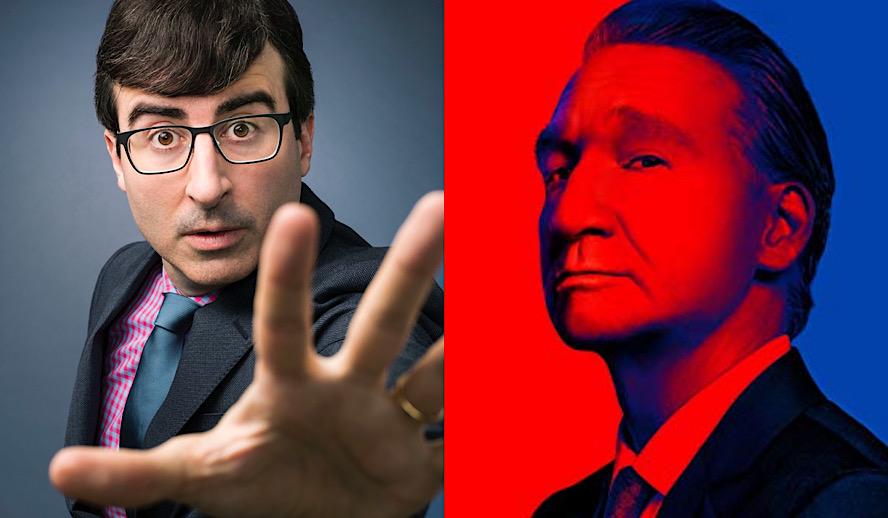Hollywood Insider HBO Political Talk Show, John Oliver, Bill Maher