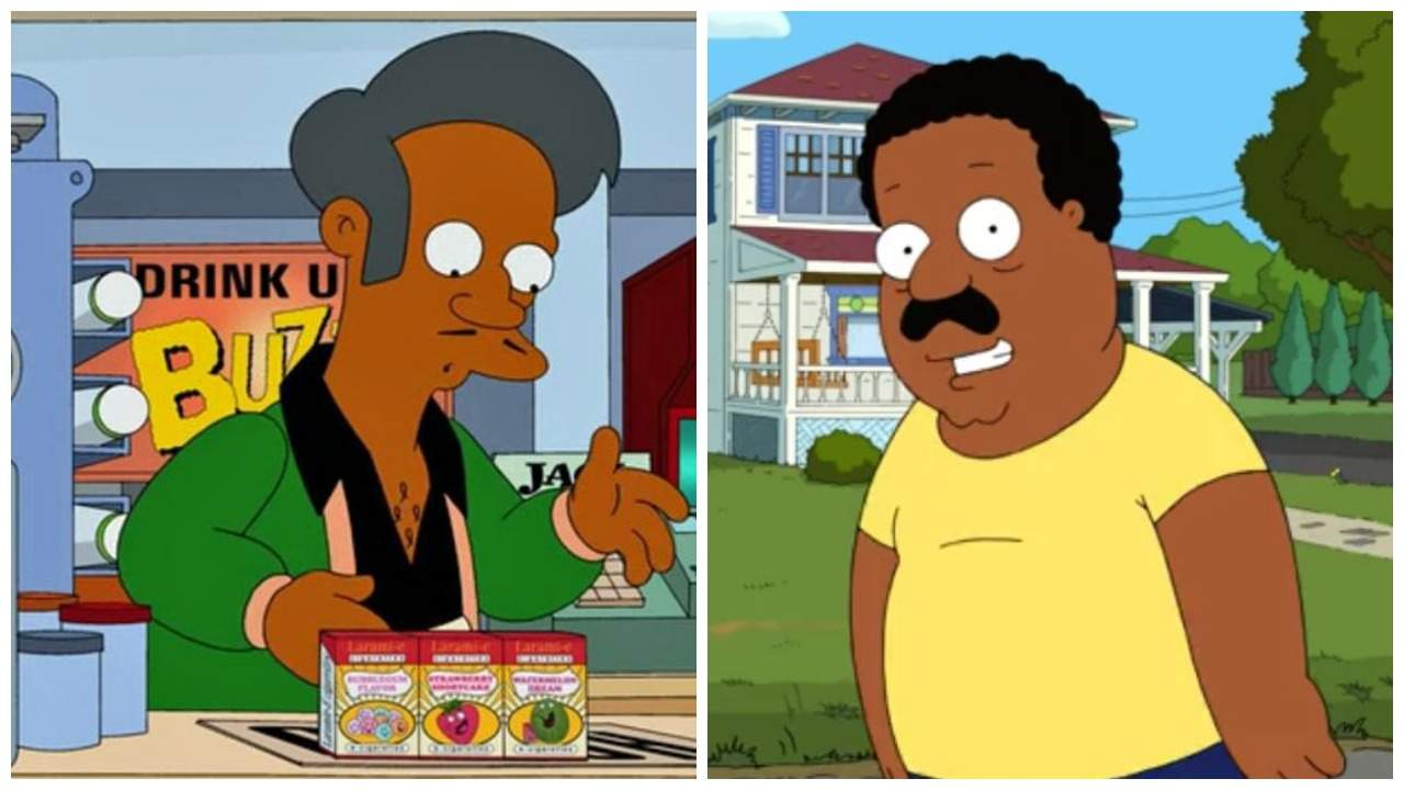 Hollywood Insider The Simpsons, Family Guy, Non-White Characters