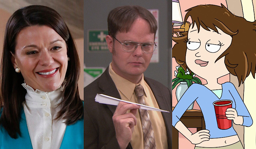 Hollywood Insider Side Characters, Dwight Schrute, Mindy St. Claire, Tammy