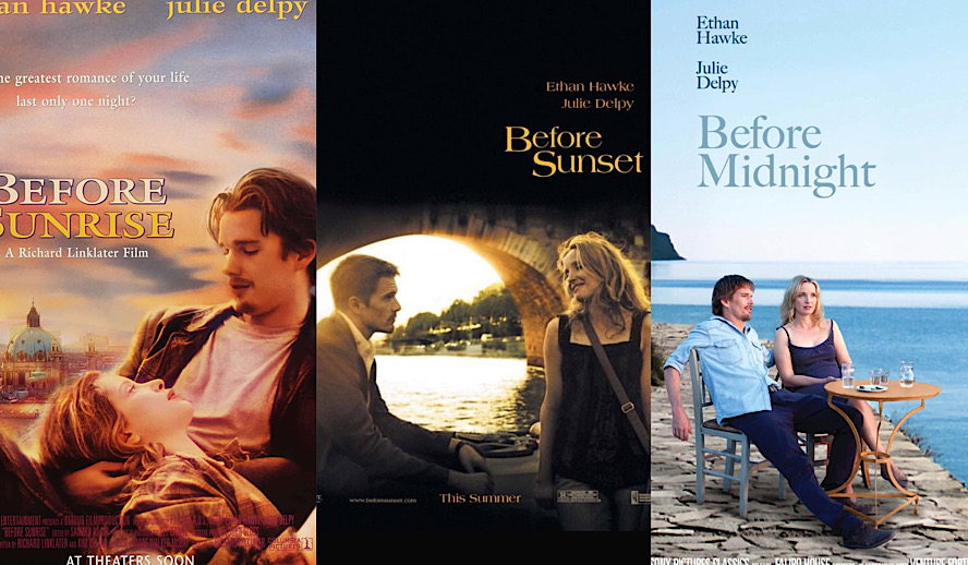 Hollywood Insider The Before Trilogy, Before Sunrise, Before Sunset, Before Midnight, Ethan Hawke