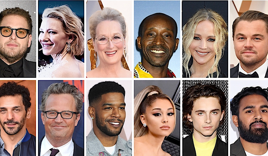 Hollywood Insider Don't Look Up, Leonardo DiCaprio, Timothee Chalamet, Jennifer Lawrence, Ariana Grande, Meryl Streep