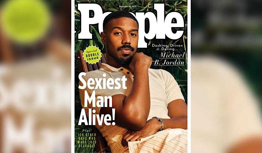 Hollywood Insider People Magazine Sexiest Man Alive, Michael B. Jordan, Black Men