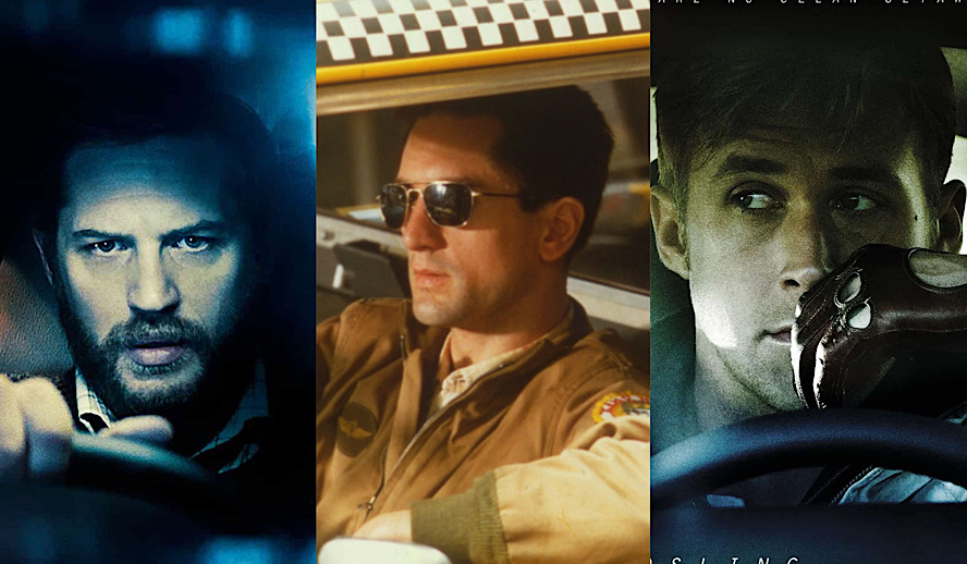 Hollywood Insider Lonely Men in Cars Movies, Drive, Locke, Taxi Driver