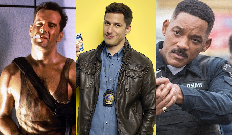 Hollywood Insider Police Stories, Die Hard, Brooklyn Nine-Nine, Bright Will Smith, Cop Movies