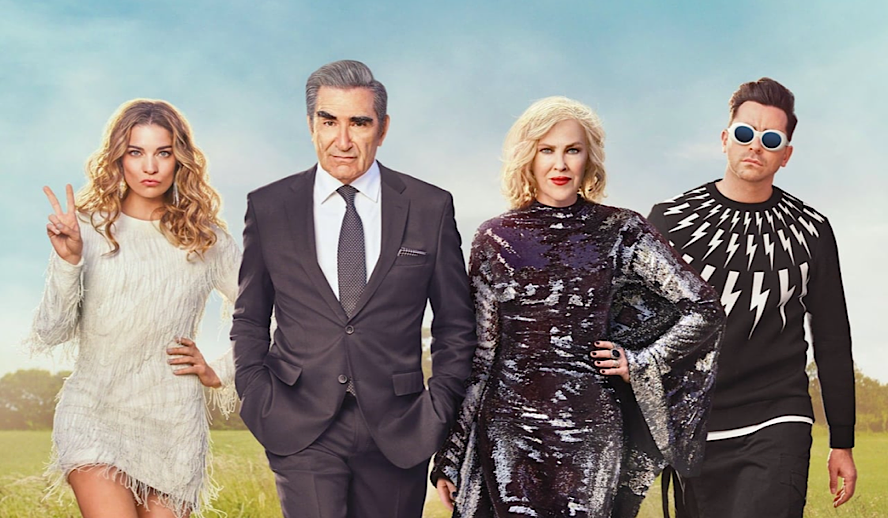 Hollywood Insider Schitt's Creek Review, Eugene Levy, Dan Levy, LGBTQ TV Shows