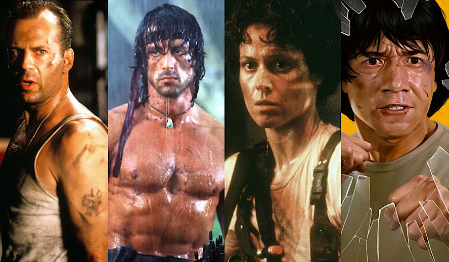 Hollywood Insider Birth of Action Movie and Action Hero, 1980s