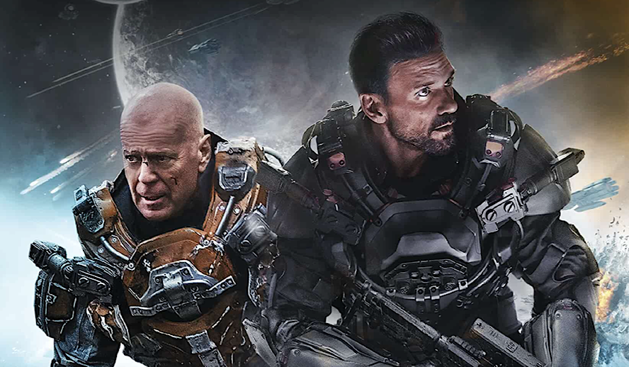 Hollywood Insider Cosmic Sin, Bruce Willis, Frank Grillo