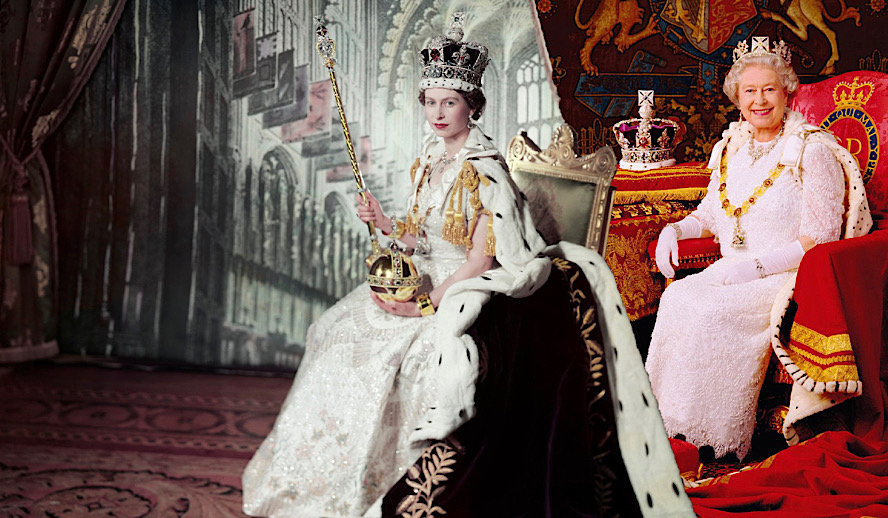 Hollywood Insider Queen Elizabeth II in Full Regalia Crown, The Royals, Best