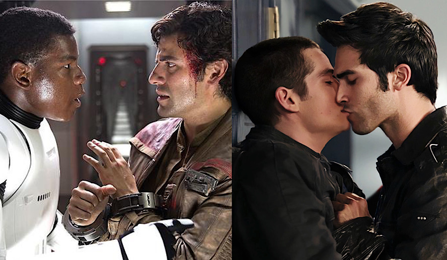 Hollywood Insider Queerbaiting in Movies and TV, Hollywood, Teen Wolf Gay Love Story, Star Wars Gay Love Story