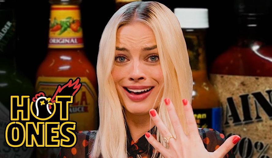 Hollywood Insider Hot Ones Review, Sean Evans, Margot Robbie Interviews