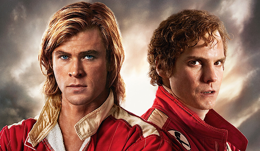 Hollywood Insider Rush Review, Chris Hemsworth, Daniel Bruhl, Ron Howard, Niki Lauda, James Hunt, Formula 1, Formula One, F1