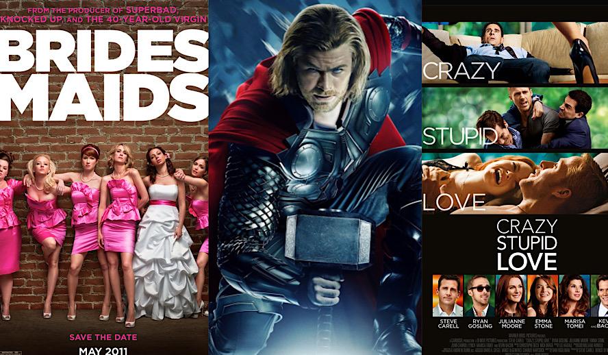Hollywood Insider Movies 10 Year Anniversary, Bridesmaids, Thor, Crazy Stupid Love