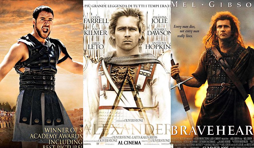 Hollywood Insider Historical Epic Movies, Gladiator, Braveheart, Alexander