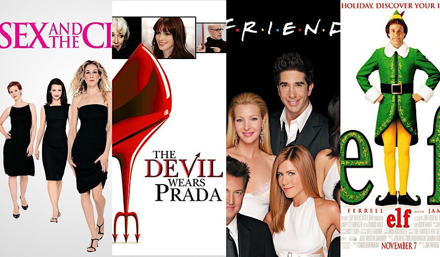 Hollywood Insider New York Nostalgia Movies and TV Series, Sex & the City, Friends, Gossip Girl