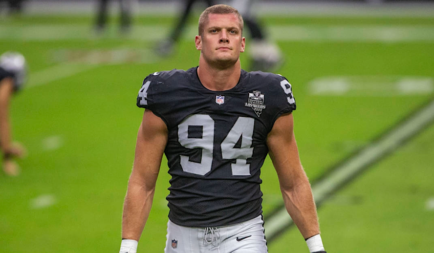 Hollywood Insider Carl Nassib Gay NFL Football Player, First Active Football Player to Come Out as Gay, Las Vegas Raiders