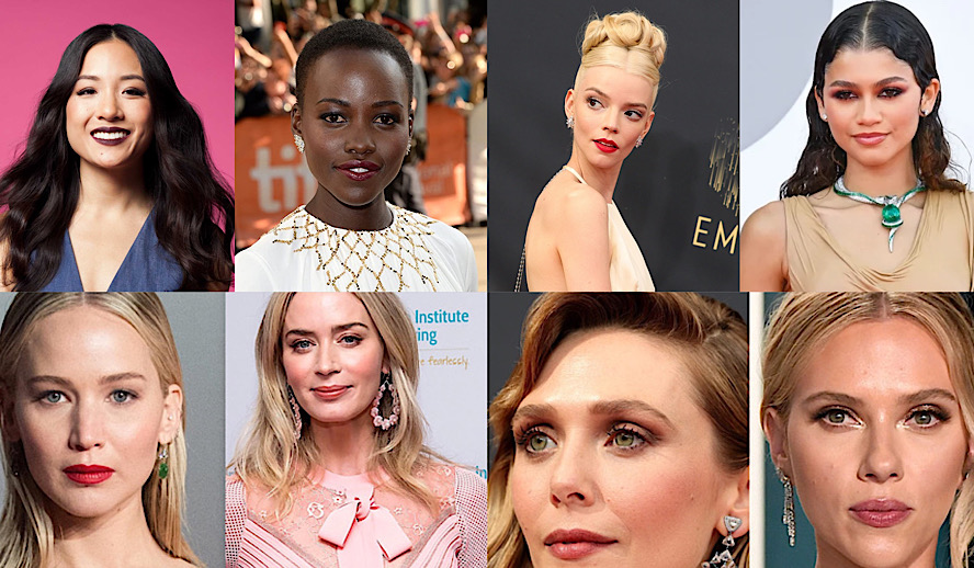 The Hollywood Insider 2021 Top Actresses, Scarlett Johansson, Emily Blunt, Elizabeth Olsen, Christina Hendricks, Jennifer Lawrence, Lupita Nyongo, Constance Wu, Anya Taylor-Joy, Zendaya